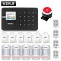 KERUI W18 inalámbrico WiFi GSM sistema de alarma para el hogar Kit de alarma antirrobo Android ios APP Control con mando a distancia