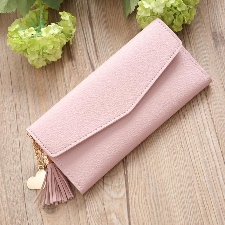 MOLAVE brieftasche new fashion Damen Einfache Lange Brieftasche Quaste Geldbörse Kartenhalter Handtasche geldbörse weiblichen berühmte jan6
