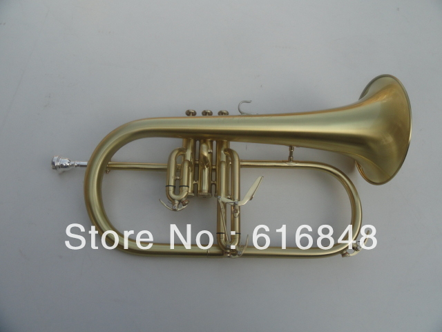 BB Flugelhorn Monel valves senior exquisite gift green bronze brushed Flugelhorn Professional