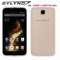 זול BYLYND X6 מילוי אור מצלמה קדמית טלפונים חכמים אנדרואיד 6.0 celular ליבת MTK6580 Quad 5.0