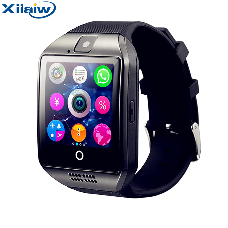 Xilaiw Q18 Smart Watch with Camera Bluetooth Smartwatch SIM Card Wristwatch for Android Phone Wearable Devices pk dz09 A1 gt08