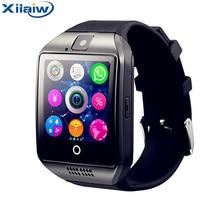 Лучшие Xilaiw Q18 Смарт-часы с камерой Bluetooth SmartWatch sim-карты наручные часы для телефона Android Носимых устройств PK dz09 A1 gt08