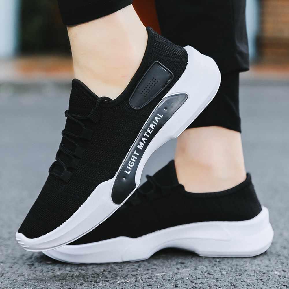Männer Mesh Atmungsaktiv Runde Kappe Lace-up Sneakers Laufschuhe Casual Schuhe sport schuhe männer 2018 casual schuhe männer turnschuhe männer 2019