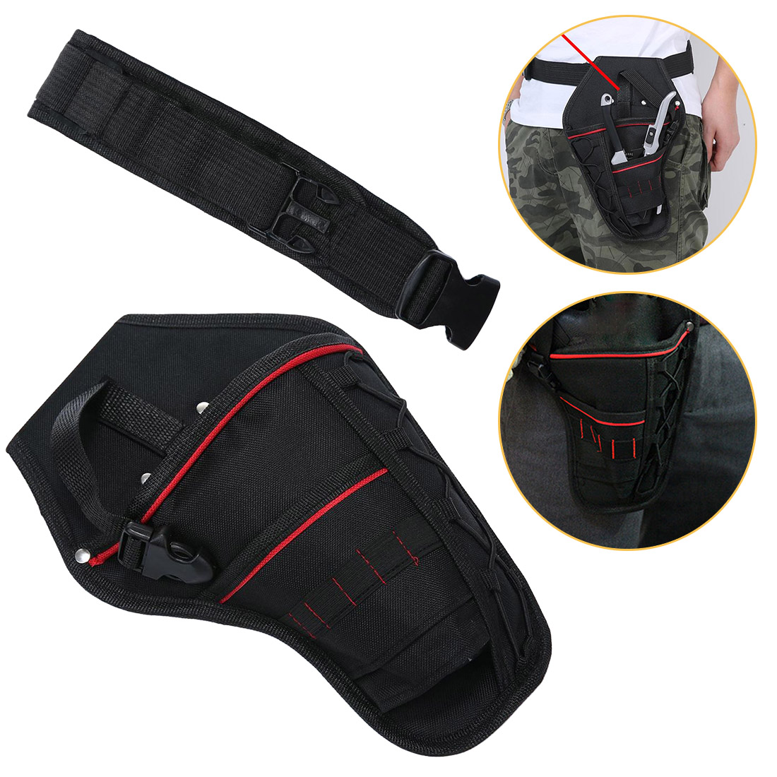 Smart 1pc 300x195mm Waterproof Electrician Waist Pocket Tools Belt Pouch For Screwdriver Hand Tools Bag Holder