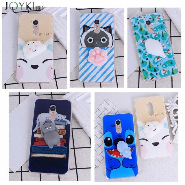 more photos 751bc 8f0a9 US $1.22 14% OFF|3D Cute Cartoon case for xiaomi redmi note 4 Squishy Phone  Case DIY Cute Silicone Cat Decompression Soft TPU for redmi note 4-in ...