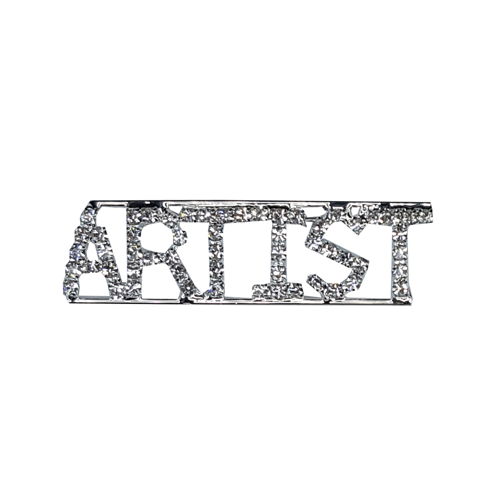 Custom Professions&Jobs Theme Crystal Lapel Pin ARTIST Word Brooch Gift Wholesale 6PCS/LOT FREE SHIPPING