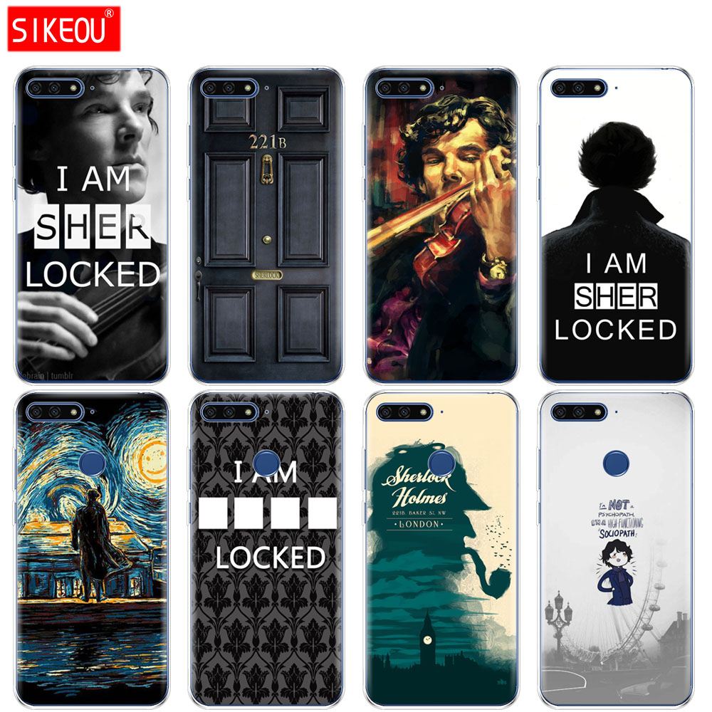 Sherlock Tardis Doctor Who Phone Cases Cover For Huawei Y3 Y5 Y6 Prime Y7 Y9 2018 Y7 Prime Hard Pc Case Cover Half-wrapped Case Phone Bags & Cases