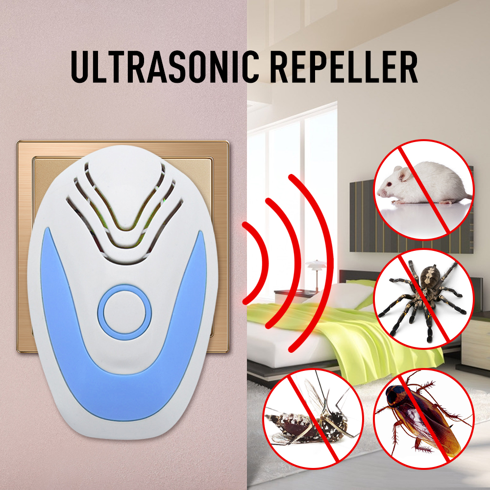 Ultrasonic Pest Repeller Electronic Mouse Rat Cockroach Control Rejector Anti Mosquito Repellent Household Pest Control