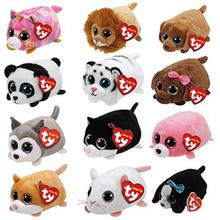 10CM Mini teeny tys Ty Plush Toys Beanie Boos Big Eyes fox unicorn Pocket TSUM Candy pig Stuffed Doll Pink Owl TY Baby Kids Gift