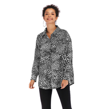 VZFF Womens Summer Single Breasted Sexy Leopard Shirt Fashion Lapel Long Sleeved Casual