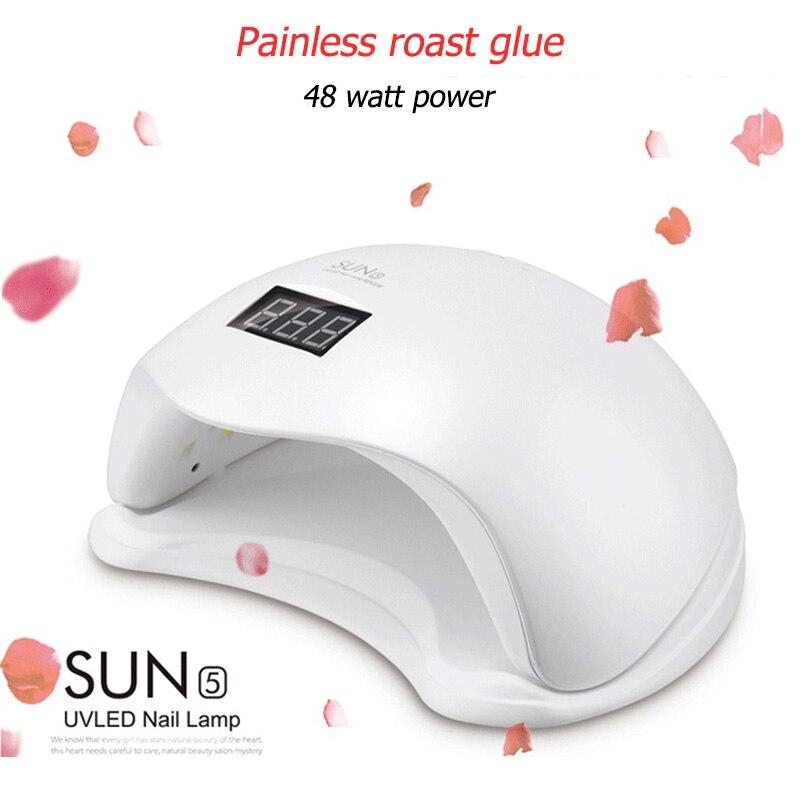 UV Nail Lamp SUN 5 48 W LED UV Machine For Nails Gel Varnish Nail Dryer Light Gel Varnish Nail Polish Led UV Lamp Dryer