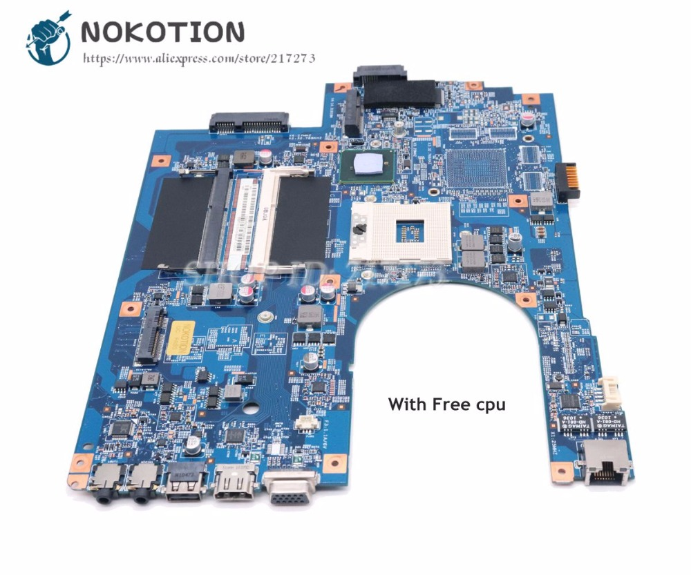 NOKOTION Laptop Motherboard For Acer Aspire 7741 7741Z 7741G 7741ZG Main Board MBPT501001 48.4HN01.01M HM55 DDR3 Free Cpu