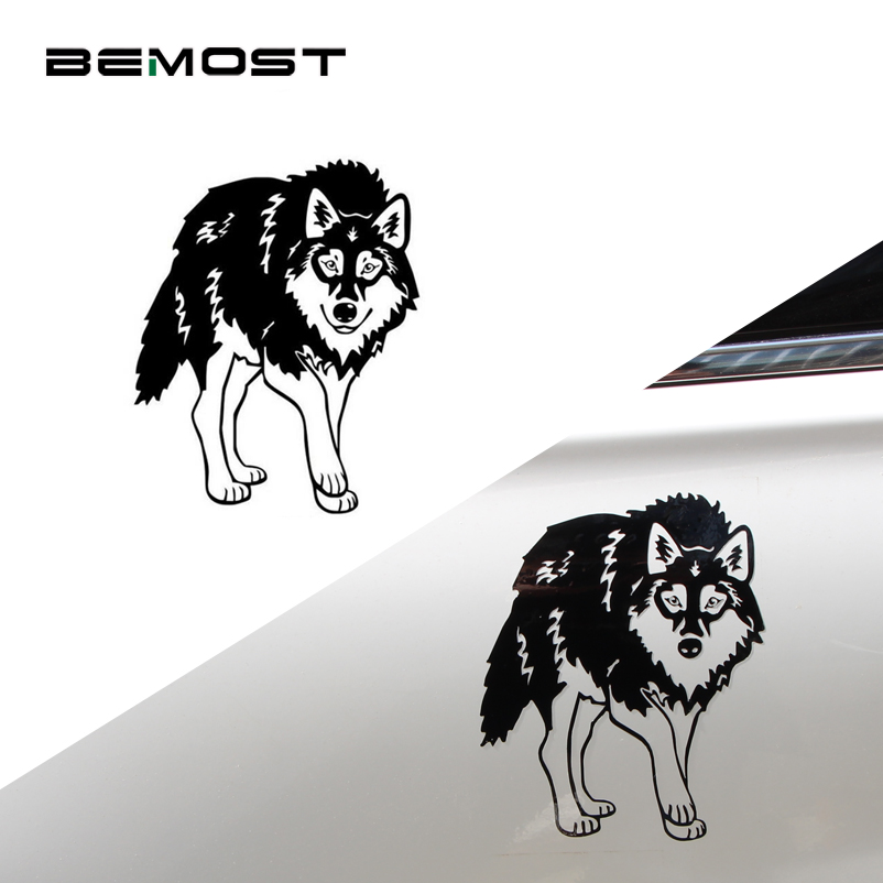 BEMOST 5pcs Car Styling Siberia Sled Dogs Cool Car Stickers Motorcycle Personality Vinyl Reflective Decoration Decals 12*15cm