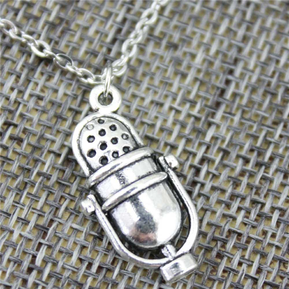 WYSIWYG 26x13 мм кулон «микрофон» ожерелье ювелирные изделия, ожерелье ручной работы подарок для женщин Прямая поставка продуктов