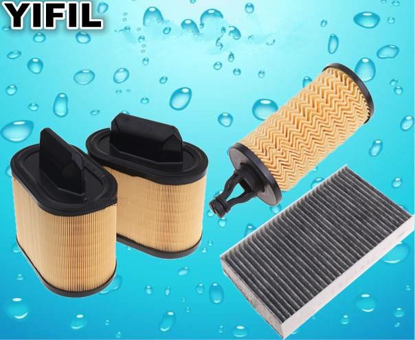 3 Set of Air Filter Cabin Filter Oil Filter For Gasoline Maserati GT Ghibli Quattroporte V6