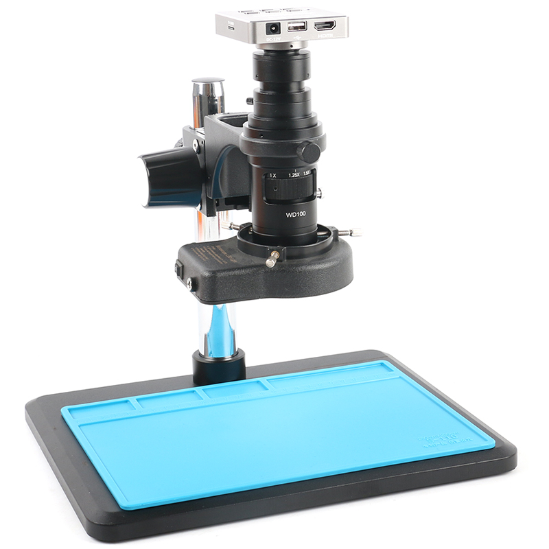 37MP 1080P 60FPS HDMI <font><b>USB</b></font> Lab Digital Industrial Video <font><b>Microscope</b></font> Camera Recorder Zoom <font><b>200X</b></font> Lens For Phone PCB Repair Soldering image