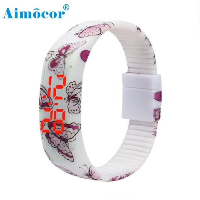 2017 Newly Designed HOT Ultra Thin Men Girl Sports Silicone Digital LED Bracelet
