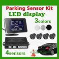 LED Display Waterproof Car Parking Assistance Sensor System kit With 4 Radar Buzzer Sensors For Reverse Backup