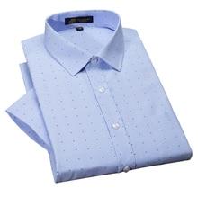 Fashion Short Sleeve Oxford Shirts Mens Casual Formal