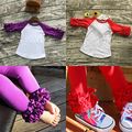 Hot !2PCS Outfit Children Suit  2017 New Toddler Kids Clothing Set Baby Girl Clothes Ruffles Sleeve T-shirt Tops + Pant Trouser