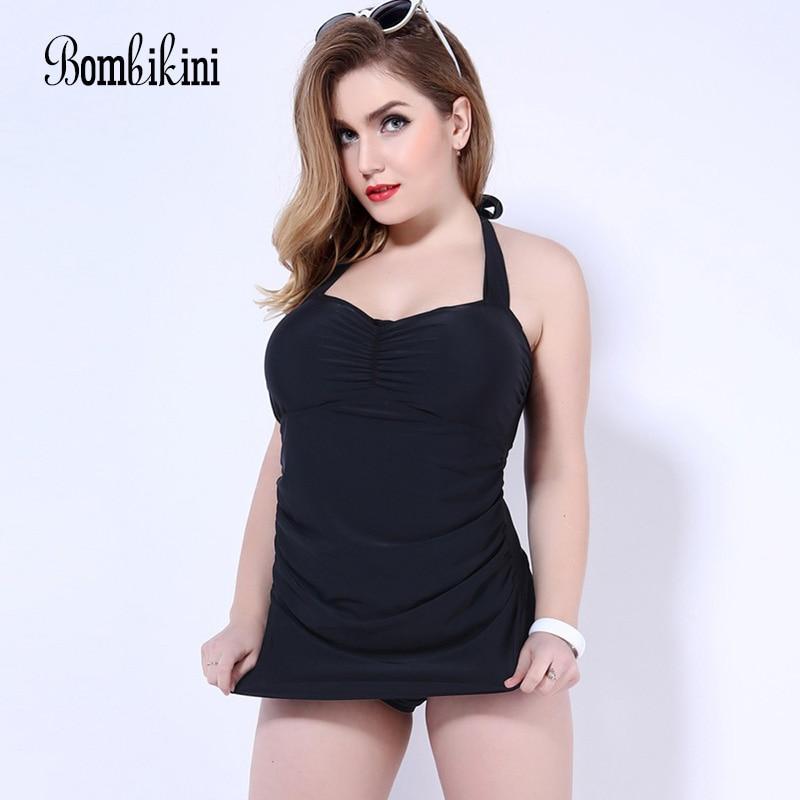 Lady Swimsuit For Fat Big Size Bandage One Piece Swimwear Plus Size Bathing Dress Women Underwire Swim Suits 3XL-5XL