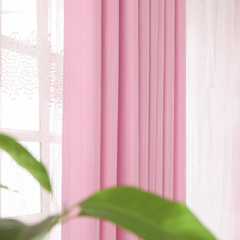 Linen Curtains For Living Room Embroidered Tulle Green Plain Panel ...
