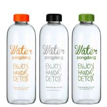 Neue 1L Glas Wasserflasche Botella De Agua Cristal Drinkglastasse Senden Reisetasche Kreative Wasserkocher