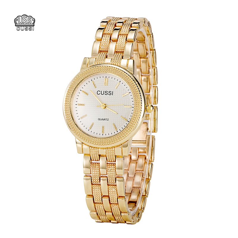 CUSSI Dames Horloge Luxe Merk Fashion Vintage Quartz Dames Goud - Dameshorloges - Foto 1