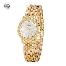 CUSSI Kvinnor Klocka Luxury Brand Fashion Vintage Quartz Ladies Gold Watch Quartz Enkel Klocka Relogio Feminino Reloj Mujer Montre