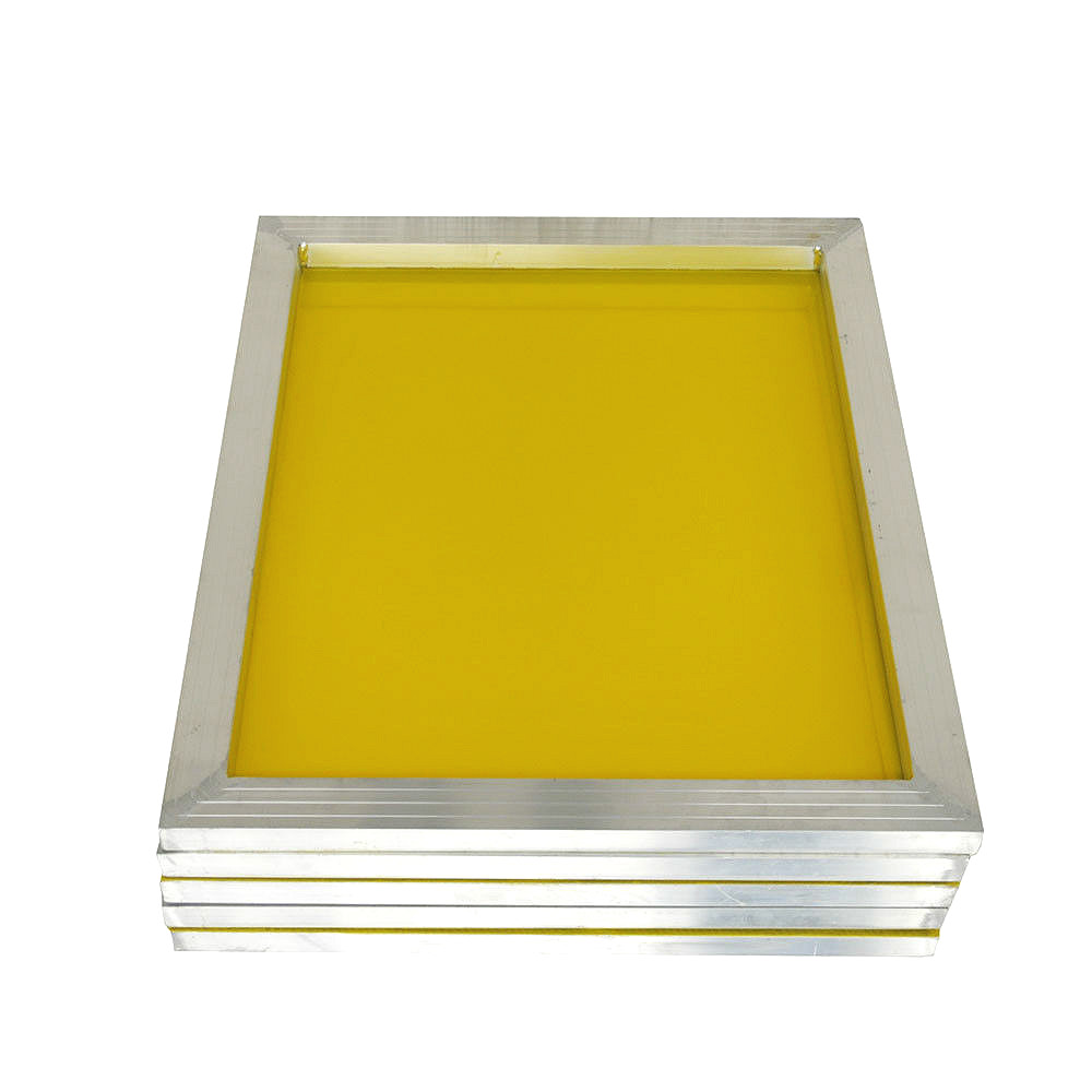 Aluminium 43*31cm Screen Printing Frame Stretched With White 120T Silk Print Polyester Yellow Mesh for Printed Circuit Board