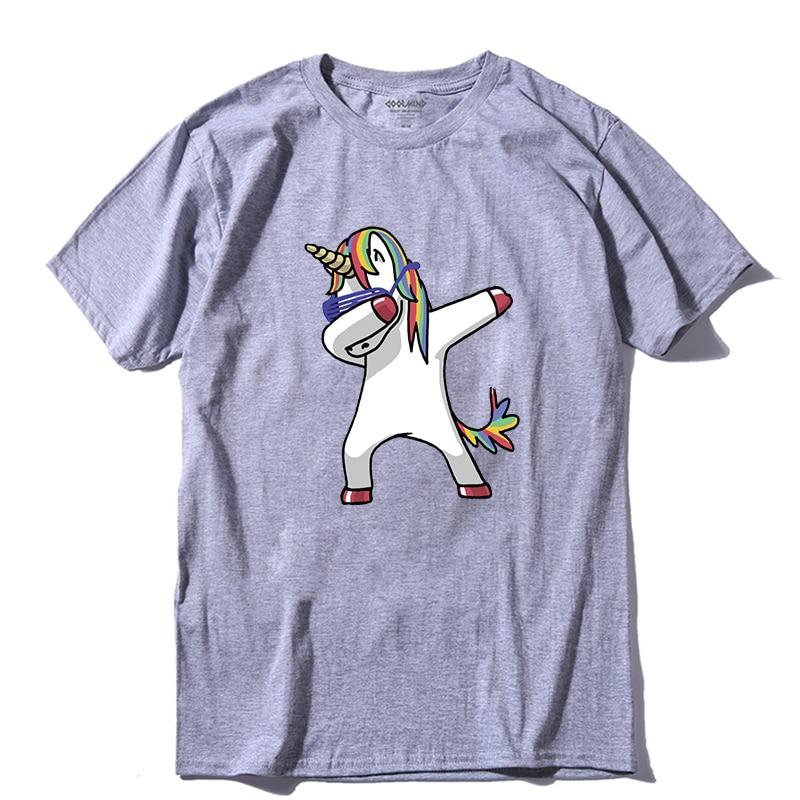 Coolmind da0120a 100% algodão dabbing unicorn impressão t camisa masculina casual verão dab camiseta legal engraçado camiseta dos homens camisas