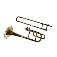 Eb Bambini Alto trombone Ottone Giallo Del Corpo con cassa della Gomma Piuma e boccaglio strumenti musicali