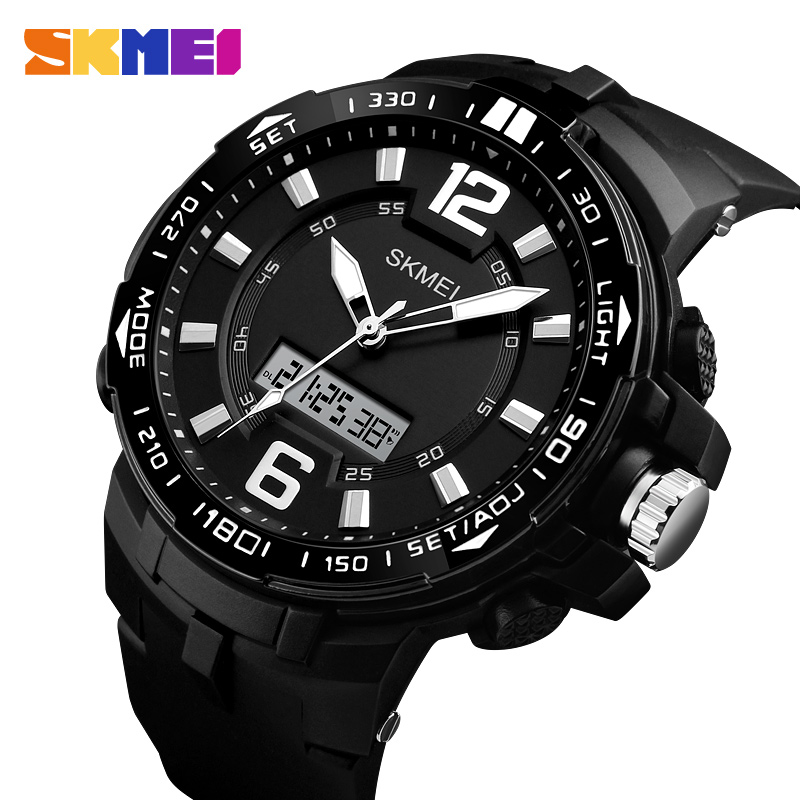 Skmei Men Watch Sports Outdoor Wristwatches Waterproof Multifunction Chronograph Alarm Quartz Digital Watches Relogio Masculino