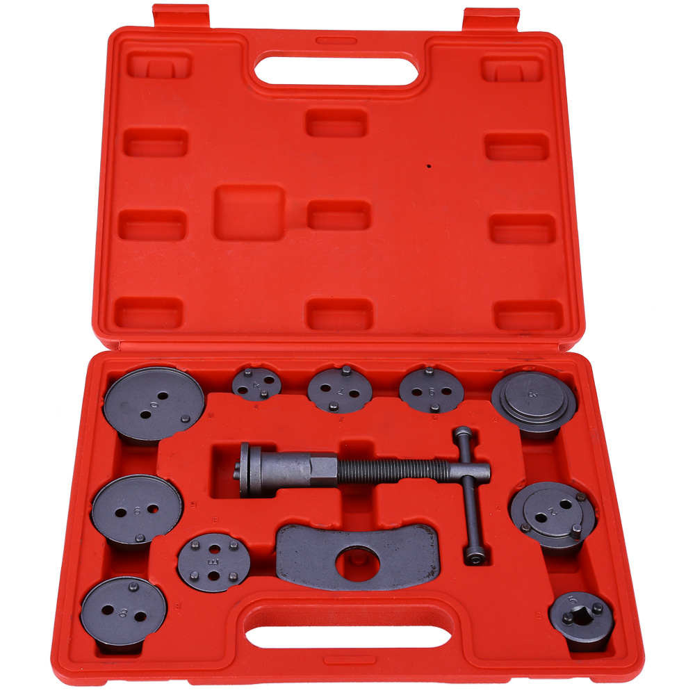 Universal 12pcs/set Car Precision Disc Brake Caliper Wind Back Brake Piston Compressor Tool Kit For Auto Garage Repair Tools