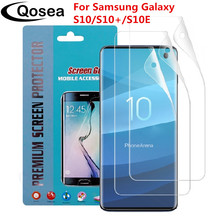 Qosea ( 3 Pack ) For Samsung Galaxy S10 Screen Protector Ultra-thin Clear Front Film For Samsung S10 Plus E Protection Flim 3pcs protective flim screen protector ultra thin clear lcd guard shield cover skin for samsung galaxy fit fit e bracelet tools
