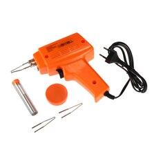 Soldador eléctrico de 100W para el hogar, juego de pistola de soldadura de iluminación, calentamiento rápido con cable de pasta de punta, Pulg europeo