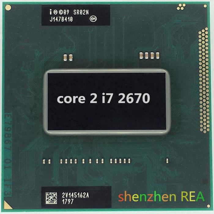 Intel Laptop Cpu I7 2670qm Laptop Cpu 2.2Ghz To 3.1Ghz 6M PGA988 Turbo Boost PGA Official Version Notebook Cpu 45W TDP