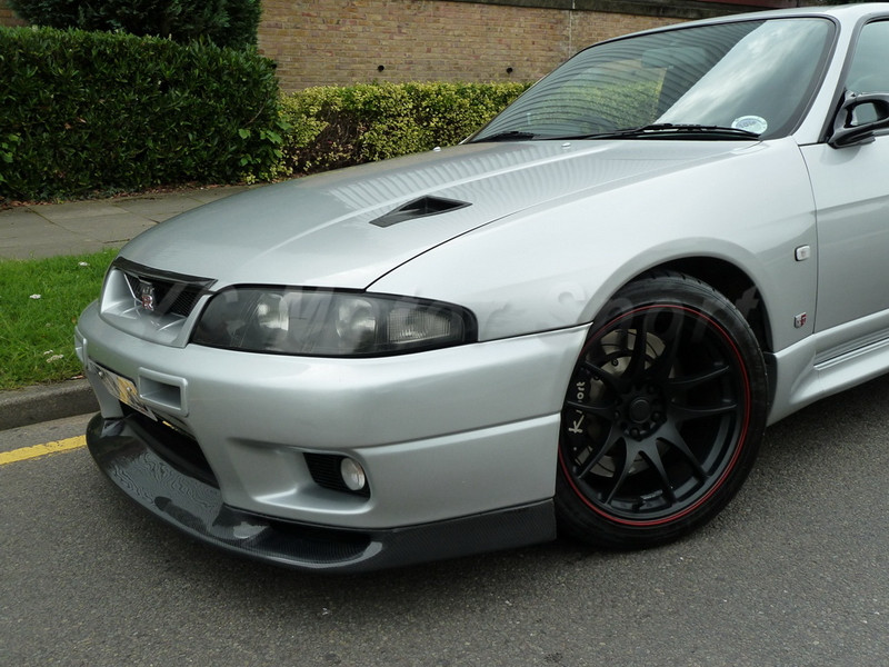 Car Accessories Carbon Fiber Jun Style Front Lip Fit For 1995-1998 R33 GTR Front Bumper Lip Car-styling image