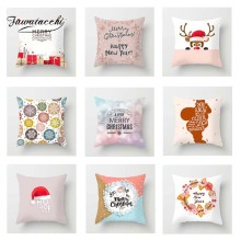 Fuwatacchi Cute Xmas Cushion Cover Cartoon Deer  Soft Throw Pillow Decorative Sofa Case Pillowcase