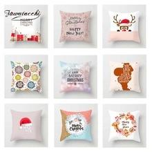 Fuwatacchi Cute Xmas Cushion Cover Cartoon Deer  Soft Throw Pillow Decorative Sofa Case Pillowcase