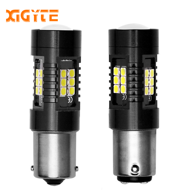 2pcs Auto <font><b>P21W</b></font> 1156 BA15S Canbus Car <font><b>Bulb</b></font> 12V 3030SMD <font><b>LED</b></font> Reverse White DRL for BMW Passat/Golf/Touran Leon/Volvo/Mercedes/Audi image