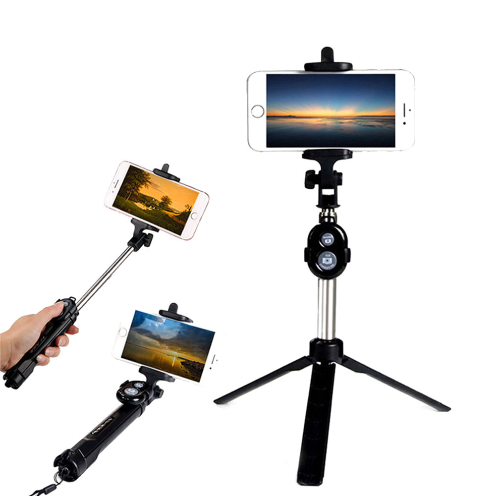 Extendable Selfie Stick Tripod Remote Bluetooth Shutter For iPhone X 8 Plus Samsung Galaxy S8 @JH