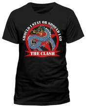 Best T Shirts Tall The Clash Should I Stay Dragon O-Neck Short-Sleeve Shirt For Men