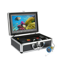 GAMWATER 10 Inch Color Monitor 30M 1000tvl Underwater Fishing Video Camera Kit 12 PCS LED Lights