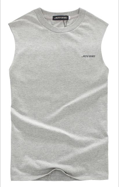 T-shirt dos homens do sexo masculino de verão sem mangas ombro largo colete básico cor sólida tanque muscular dos homens de roupas