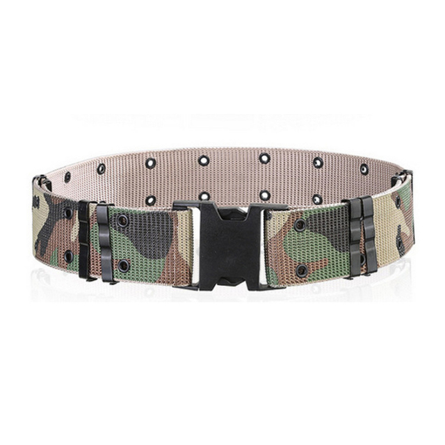 Tactical Belts Mens OPS SWAT Army Combat Canvas Belts Adjust Emergency Survival Waist Belt Tactical Gear waist support