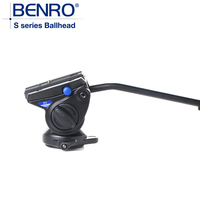 BENRO S4 Hydraulic Tripod Head S Series Pro Camera Ball Head Camera Aluminum Tripod Ballhead Max loading 4kg