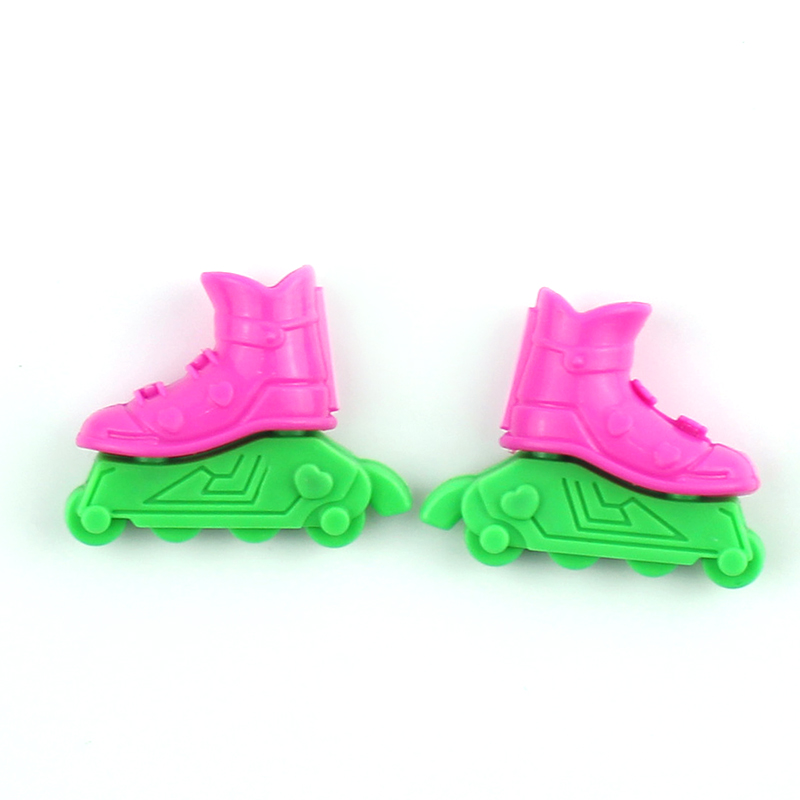 2-3cm Roller Skate Fancy Doll Shoes Toys for Girls Christmas Gif Decorative Kids Girls Toy Roller Play House Doll Accessories ...