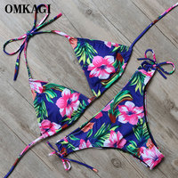 OMKAGI Bikini 2018 Swimsuit Women Swimwear Biquini Sexy Push Up Bikini Set Swimming Bathing Suit Beachwear