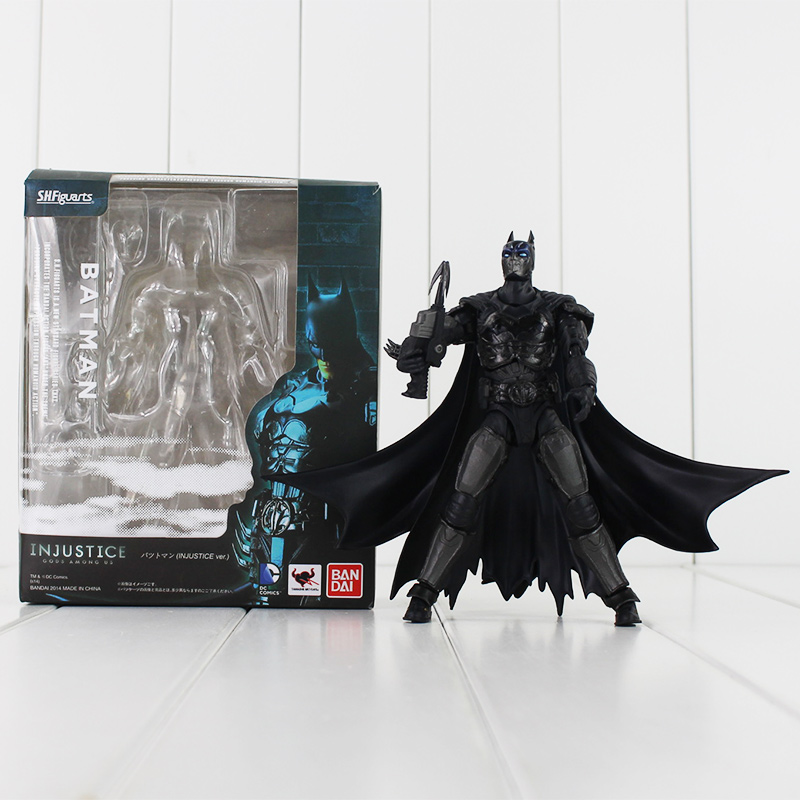 Movable SHFiguarts The Injustice Gods Among Us Batman PVC Action Figure Collectible Model Toy shfiguarts batman the joker injustice ver pvc action figure collectible model toy 15cm boxed